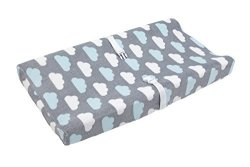 Crown Crafts Infant Products, Little Love Little Love By Nojo Changing Table Cover Happy Little Clouds
