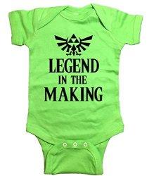 "Zelda One Piece ""legend In The Making"" Bodysuit 6 Month Green"