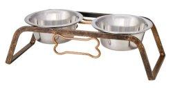 Loving Pets Black Label Collection Rustic Bone Diner For Dogs 1-QUART Aged Copper