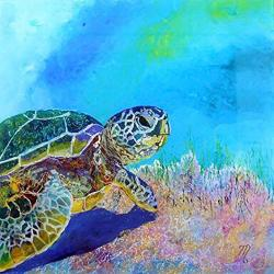Diamond Painting Kits 5D Diy Diamond Painting Full-crystal Rhinestone Painting-decorating Cabinet Table Stickers For Study Room Tortoise 7.9 X 7.9 Inch Frameless