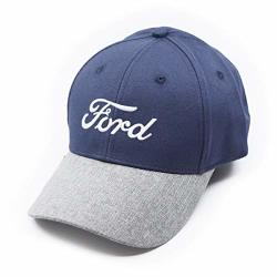 Ford Vintage Baseball Cap Adjustable Weathered Chino Twill Hat One Size Blue And Gray