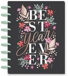 Create 365 The Classic Happy Planner Garden Blooms Best Year Ever 18 Months Dated July 2019-DECEMBER 2020 Vertical Hourly Layout