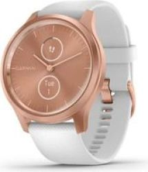 Garmin Vivomove Style Hybrid Smartwatch White rose Gold