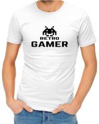 Retro Gamer Mens White T-Shirt XL