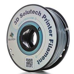 3D Solutech Real Grey 3D Printer Pla Filament 1.75MM Filament Dimensional Accuracy + - 0.03 Mm 2.2 Lbs 1.0KG - 100% Usa