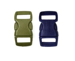 """Imported By Perpetual Revolution Mix Of 10 Olive Drab & Sapphire Blue 3 8"""" Buckles 5 Olive DRAB 5 Sapphire Blue Contoured Side-release. Perfect For Paracord Bracelets."""