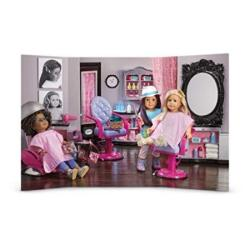American Girl Hair Salon Scene For Dolls Background