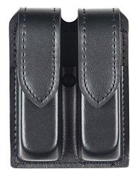 Safariland Duty Gear Glock 17 Hidden Snap Double Handgun Magazine Pouch Plain Black