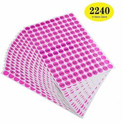 """Onupgo Garage Labels 3 4"""" Round Preprinted Pricing Labels Price Stickers Removable Prices Labels Bright Neon Fluorescent Multicolored With Blank Label Pack Of 2240"""