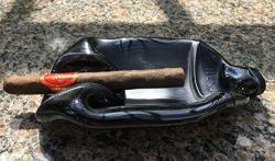 Hendrick's Gin Bottle - Gently Slumped Into A Bowl Or Ash Tray Great For Cigars