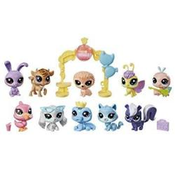EWarehouse Littlest Pet Shop Sparkle Spectacular Collection Pack Toy Includes 10 Glitter Pets Ages 4 And Up