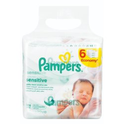 Pampers - Sensitive Baby Wipes 6X56S