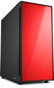 Sharkoon AM5 Window Atx Tower PC Gaming Case Red With Side Window