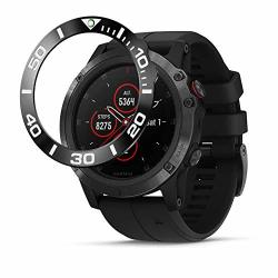Baihui Stainless Steel Bezel Ring Compatiable With Garmin Fenix 5X Plus Bezel Ring Adhesive Cover Anti Scratch & Collision Prote