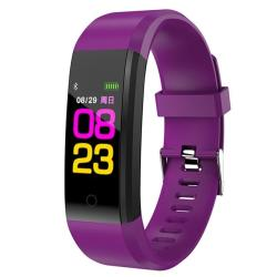 ID115 Plus Smart Bracelet Fitness Heart Rate Monitor Blood Pressure Pedometer Health Running Sports Smartwatch For Ios Android Purple