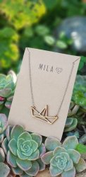 Mila Wooden Abstract Necklace - Nationwide Shipping Included