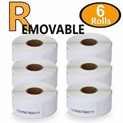 "6 Rolls Dymo 30330 Removable Compatible 3 4"" X 2"" 19MM X 51MM Multipurpose return Blank Address Labels"