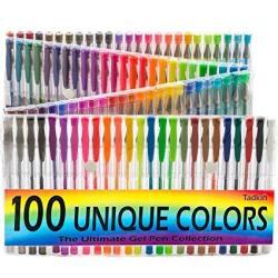 Tadkin Gel Pens Set - 100 Unique Coloring Pens - Superior Quality ...