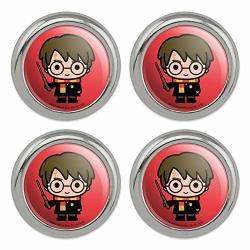 Harry Potter Cute Chibi Character Metal Craft Sewing Novelty Buttons - Set Of 4