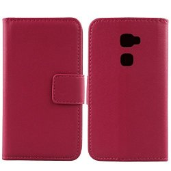 """Gukas Design Genuine Leather Case For Huawei Mate S 5.5"""" Wallet Premium Flip Protection Cover Skin Pouch With Card Slot Rose"""