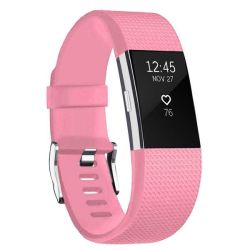 Linxure Fitbit Charge 2 Silicone Strap - Light Pink - Small