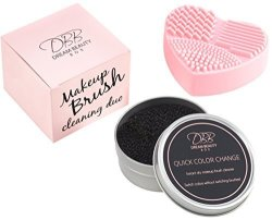 Dream Beauty Box Makeup Brush Cleaner Kit - Silicone Makeup Brush Cleaning Pad - Quick Daily Cleaner Dry Sponge - Instantly Remo