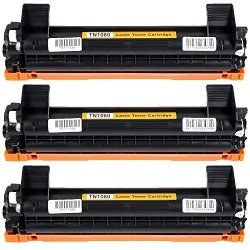 Cisinks HTB-TN1060-3PK Black Toner Cartridge Replacement: Brother TN-1060  1 000 Yield  Compatible With The Brother HL-1110 1112 1212 MFC-1810 1815 1910 DCP-1510 1510 1512 1610 1612