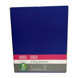 SIMPLE CHOICE - A4 Ringbinder 2PC Blue