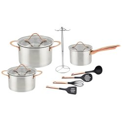 Zellini 11PC Stainless Steel Cookware Set