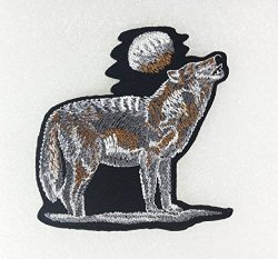 PA International Trading Co.,Ltd Wolf Howling Embroidered Sew Iron On Patch P 269