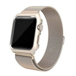 Ramida Apple Watch Bracelet Milanese Magnetic Bracelet Apple Watch Band 42MM Gold