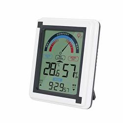 Indoor Thermometer Monitor Intelligent Wireless Precise Detection Indoor Hygrometer Thermometer Touch Screen Monitor For Kitchen Home Restaurants Gray