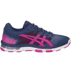 ASICS Gel Netburner Academy 8 Netball Shoes 6 Blue pink