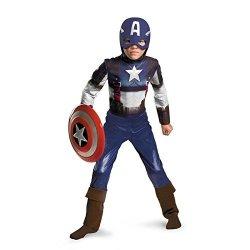 DISGUISE Captain America Movie Child Classic Costume - Large 10-12