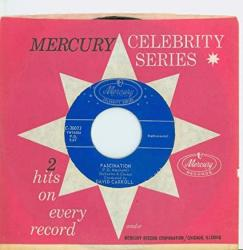Fascination It's Almost Tomorrow - David Carroll Mercury Celebrity Series Records 1956 Excellent To Mint 6 Out Of 10 - Vintage 45 Rpm Vinyl Reco