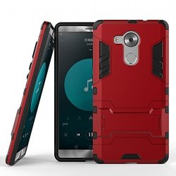 DWay Huawei Mate 8 Heavy Duty Case Box 2 In 1 Hybrid Armor Hard Back Case Cover For Huawei Mate 8 6.0INCHES Marsala Red