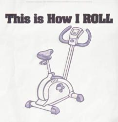 3DROSE HT_102568_3 This Is How I Roll Exercise Bike Exercising Design-iron On Heat Transfer For White Material 10 By 10-INCH