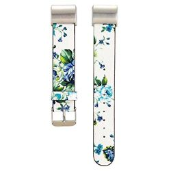 Floral Band For Fitbit Charge 2 - White & Blue