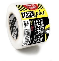TapePlus Gaffers Tape - 3 Inch By 40 Yards In White - Get 33% More High End Professional Grade - Gaffer Tape Is The Perfect