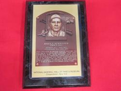 USA Tigers Hal Newhouser 1992 Hall Of Fame Induction Postcard Plaque New