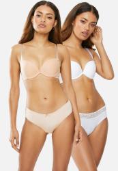 Wonderbra 2 Pack Smooth Panties - White & Beige
