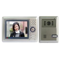 5 Inch Hands Free Color Video Door Phone System With Hand Move Alarm Function
