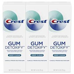 Crest Toothpaste Gum Detoxify Deep Clean 4.1OZ Pack Of 3