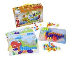 Interactive Peg Board Game With 90 Pegs & 6 Worksheets 3 4