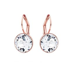 CIVETTA SPARK Miki Earrings With Clear Swarovski Crystal - Rose Gold Plated