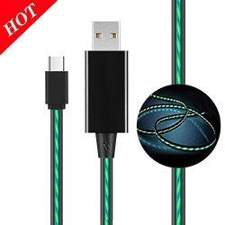 China Type USB C Cable Mkdgo Portable Flowing LED Flash Light Cable High  Speed Quality Data Charging Cable 3FT USB2 0 For Samsung GALAXYS8 S8PLUS