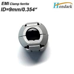 10ea 9mm0.35clamp EMI RF Filter ferrite Bead Choke Ring for Video HDMI Cable or Power Cord Grey Color Hondark HK Limited