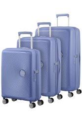 American Tourister Soundbox 3 Piece Set Denim Blue