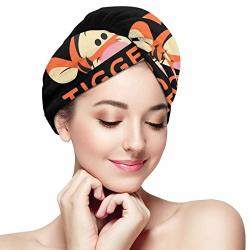 Lienkindn Win-nie The Pooh Peek A Boo_tigger Hair Towel Wrap Quick Dry Hair Wrap Towels For Women Girls - Hair Drying Towels Turban For