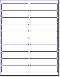 """Next Day Labels Laser Ink Jet White Labels 4"""" X 1"""" - 20 Per Page 500 Labels"""
